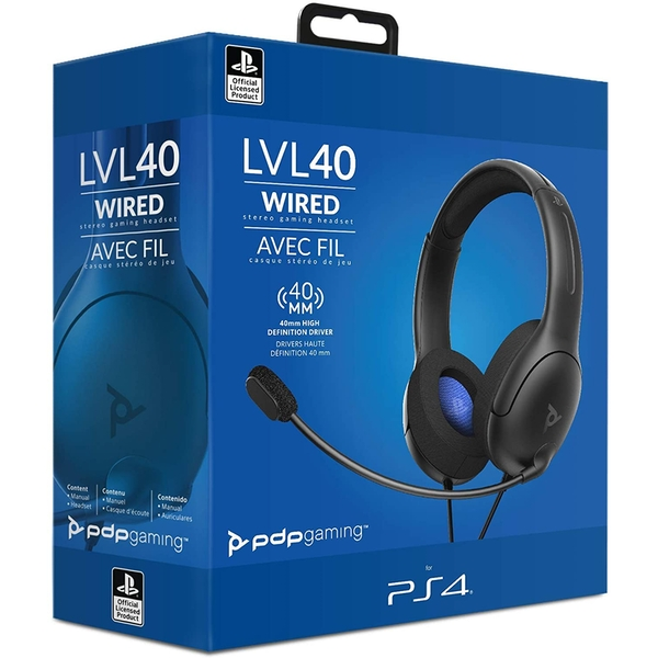 PDP Headset LVL40 Wired stereo PS5 PS4