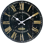 Vintage Black French Wall Clock