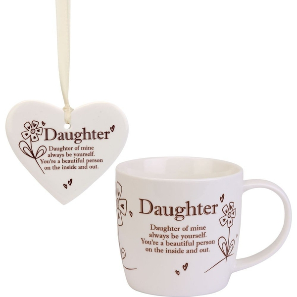 Said with Sentiment Ceramic Mug & Heart Gift Sets Daughter
