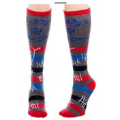 Harley Quinn - Daddy's Little Monster Knee High Socks (One size)