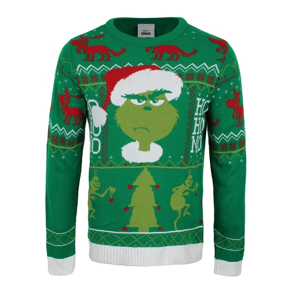 Grinch - Ho Ho No Unisex Christmas Jumper Large
