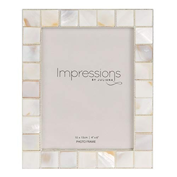 "4"" x 6"" - Impressions Shell Mosaic Inlay Photo Frame"
