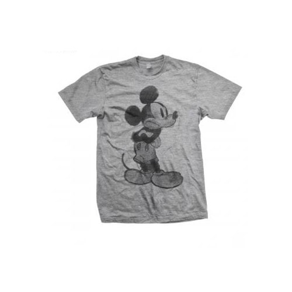 Disney - Mickey Mouse Sketch Unisex XX-Large T-Shirt - Grey