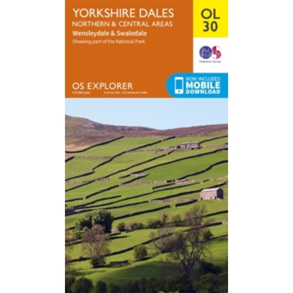Yorkshire Dales Northern & Central by Ordnance Survey (Sheet map, folded, 2016)