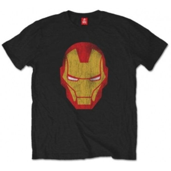 Avengers Iron Man Distressed  Blk TS: Small