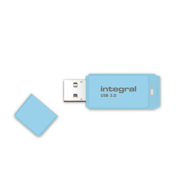 Integral 8GB USB3.0 Memory Flash Drive (Memory Stick) Pastel Blue Sky
