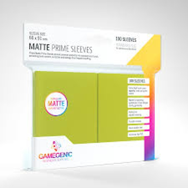 Gamegenic Matte Prime Lime - 100 Sleeves