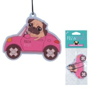 Pug Design New Car Smell Fragranced  (Pack Of 6) Air Freshener