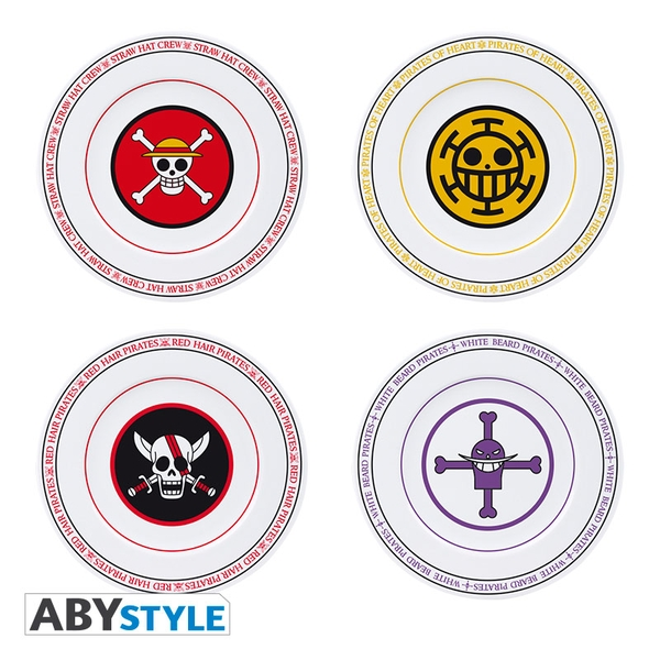 One Piece - Emblems Set Of 4 Plates