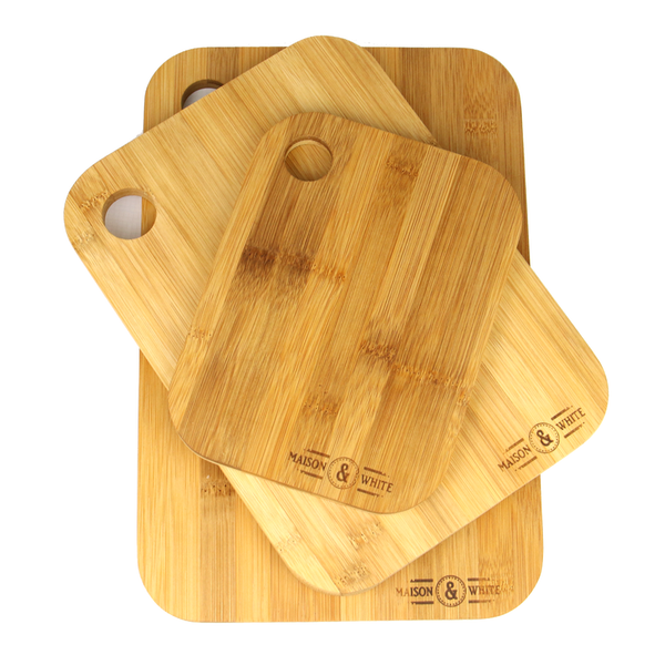 3 Bamboo Chopping Boards   M&W - Image 6