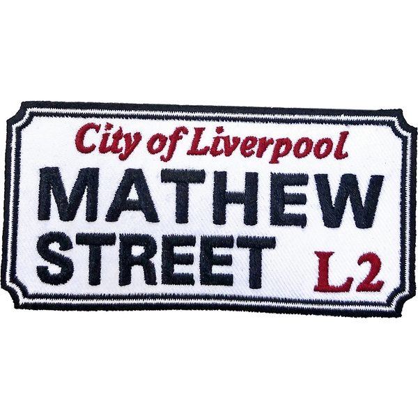 Road Sign - Mathew Street, Liverpool Sign Standard Patch