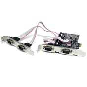 4 Port Native PCI Express RS232 Serial Adapter Card with 16550 UART