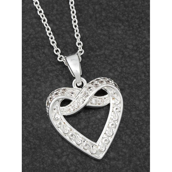 Kiss Collection Silver Plated Kiss/Heart Necklace