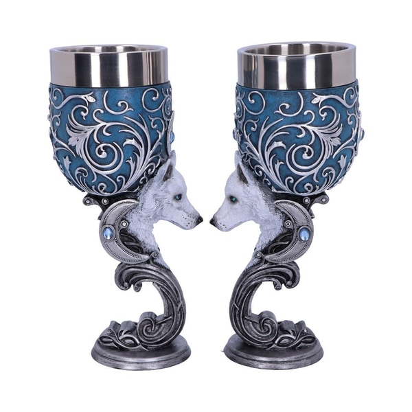 Wild at Heart (Set of 2) Wolf Goblets