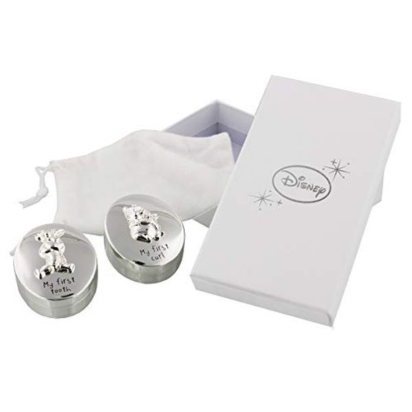Disney Winnie the Pooh Silver Plated First Tooth & Curl Set
