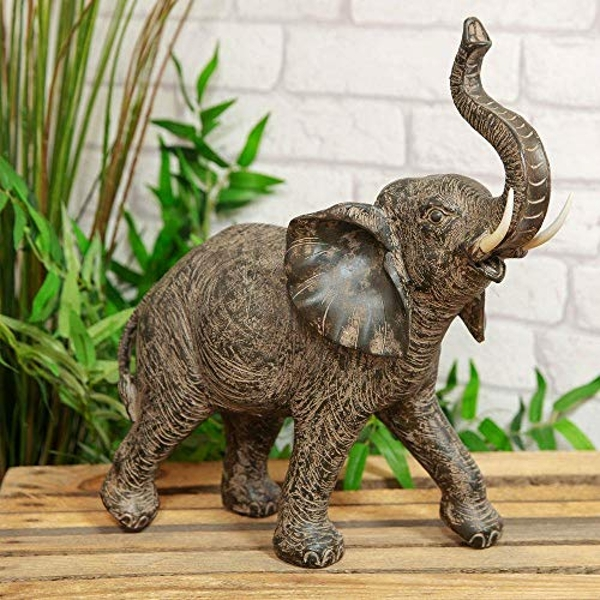 Naturecraft Collection - Elephant with Trunk Raised Figurine