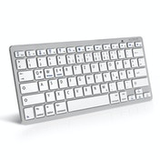 Caseflex German Bluetooth Keyboard - White-Silver