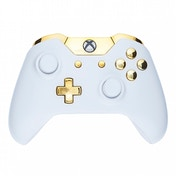 Piano White & Gold Xbox One Controller