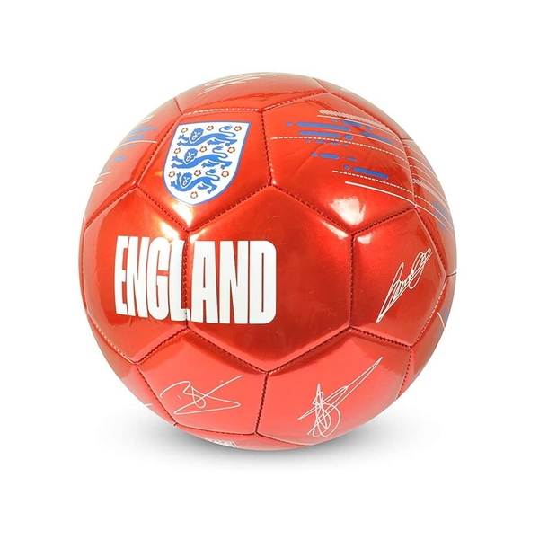 England Metalic Red Signature Ball Size 5