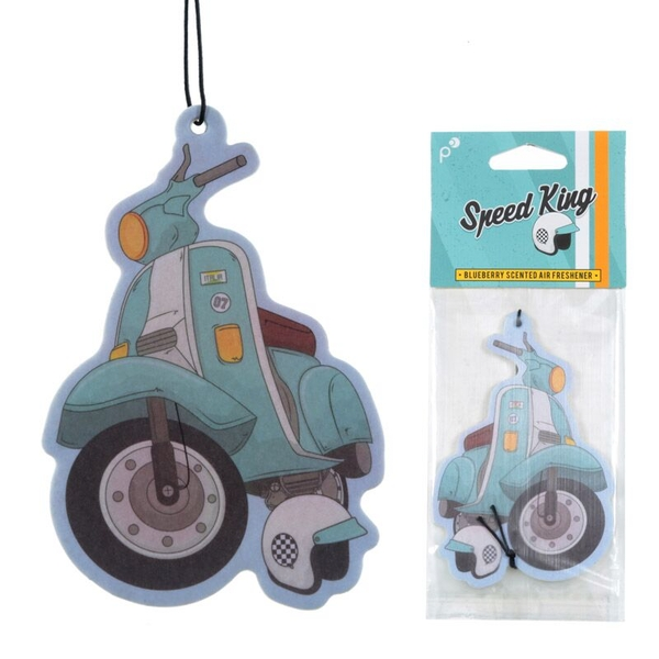 Scooter Design Blueberry Fragranced  (Pack Of 6) Air Freshener