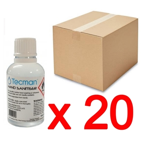 Hand Sanitiser 70% Alcohol Box of 20 x 50ml Bottles