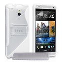 YouSave Accessories HTC One M7 Mini Leather-Effect Stand Case - White