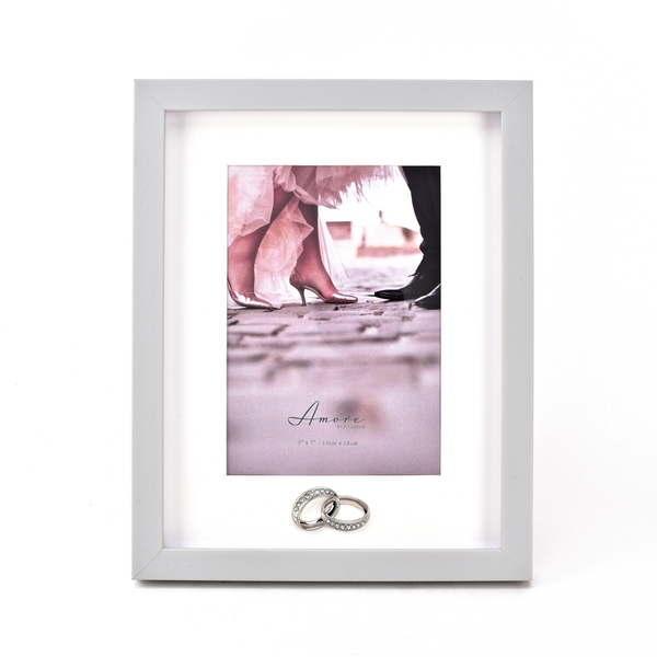 """Amore Plastic Photo Frame with Rings Icon - 5"""" x 7"""""""