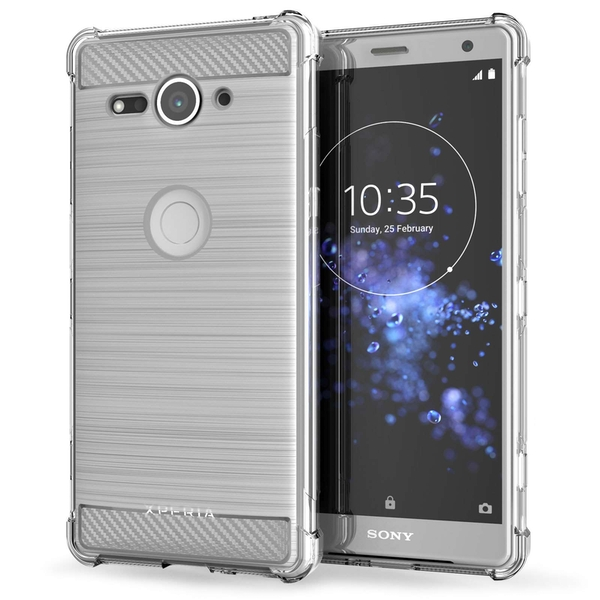 Sony Xperia XZ2 Compact Carbon Anti Fall TPU Case - Clear