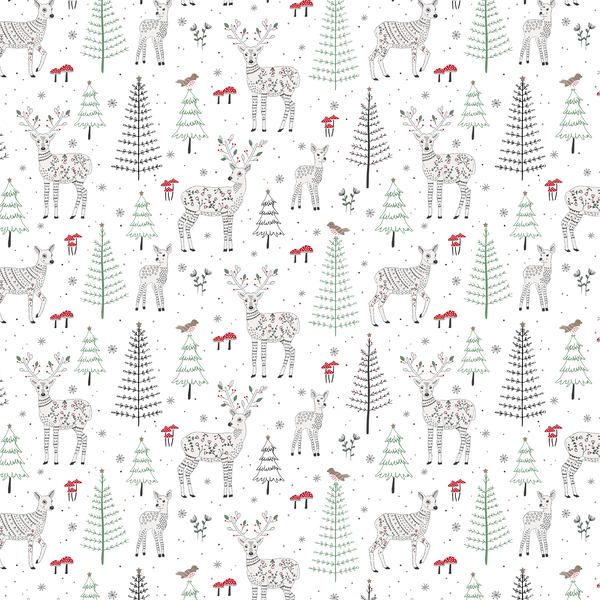 Sass & Belle Winter Forest Folk Deer Wrapping Paper