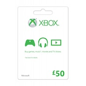 Microsoft Money (Gift Card) Fifty 50 Pounds Xbox 360 & Xbox One