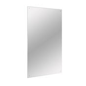 Frameless Rectangle Mirror | Includes Wall Hanging Fixings | M&W 450x300mm New