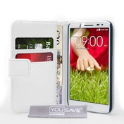 Yousave LG G2 Mini Leather-Effect Wallet Case - White