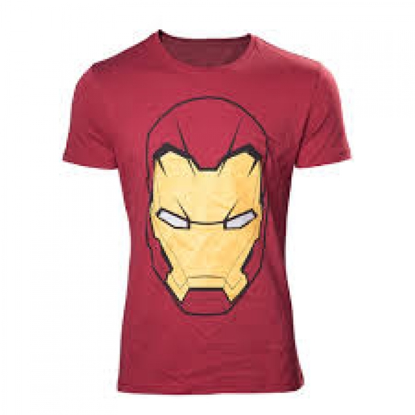 b3547dd630 Marvel Comics Iron Man Mask Medium Red T-Shirt - shop4megastore.com