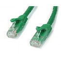 Cat6 patch cable with snagless RJ45 connectors   7m  green