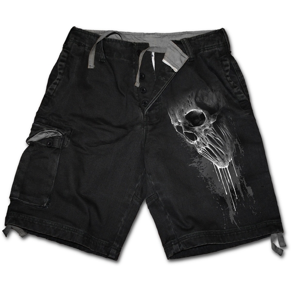 Bat Curse Men's X-Large Vintage Cargo Shorts - Black