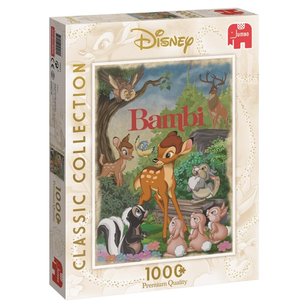 Jumbo Disney Classic Collection Bambi Movie Poster 1000 Piece Jigsaw Puzzle