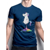 Cid Originals - Unicorn Fart Men's Large T-shirt - Blue