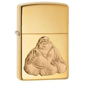 Zippo Laughing Buddha High Polish Brass Finish Windproof Lighter
