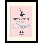 Mary Poppins - Spoonful of Sugar Mounted & Framed 30 x 40cm Print