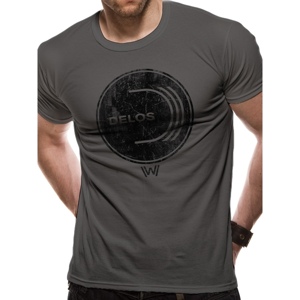 Westworld - Delos Logo Men's Large T-Shirt - Grey