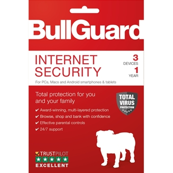 Bullguard Internet Security 2019 1Year/3 Device 10 Pack Multi Device Retail License English