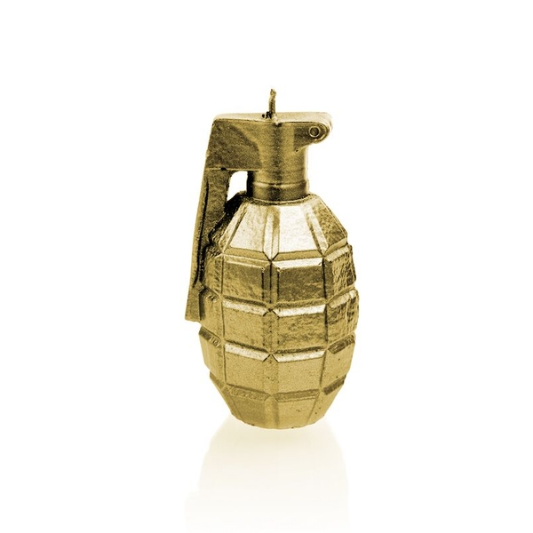 Classic Gold Small Grenade Candle