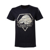 Metal Gear Solid V Diamond Dogs Army Mens Small Black T-Shirt