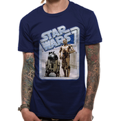 Star Wars - Droids Retro Badge Men's Small T-Shirt - Blue