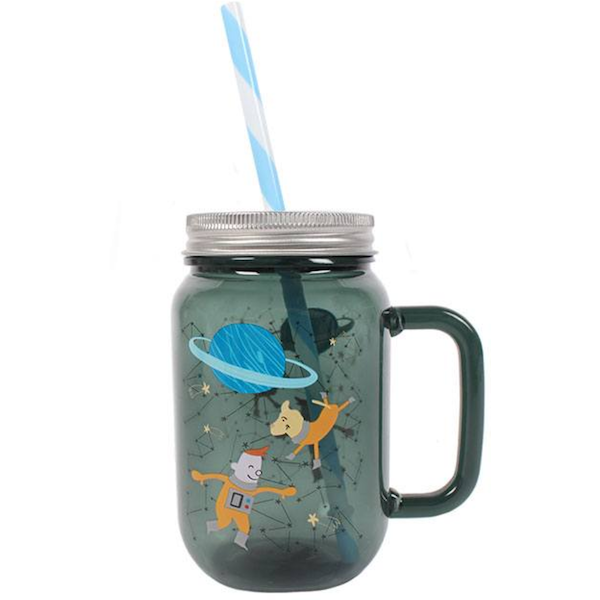 Space Adventure Drinking Jar