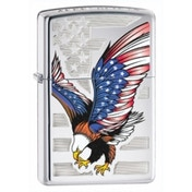 Zippo Eagle Flag High Polish Chrome Windproof Lighter