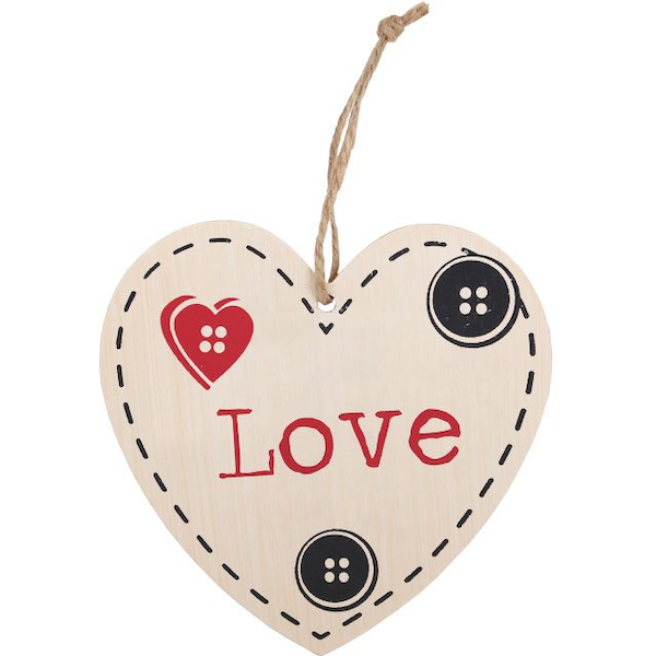 Love Hanging Heart Sign