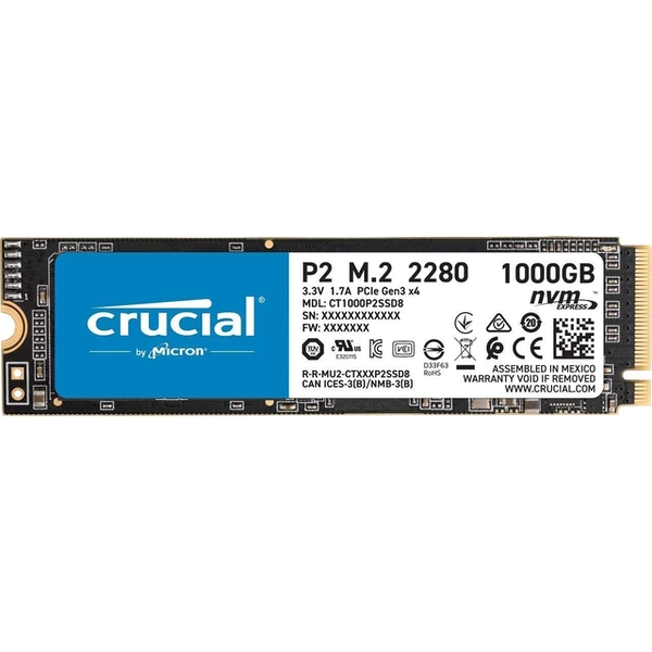 Image of Crucial P2 1TB M.2 2280 PCI-e 3.0 NVMe Solid State Drive
