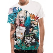Suicide Squad - Graffiti Men's Large T-Shirt - White