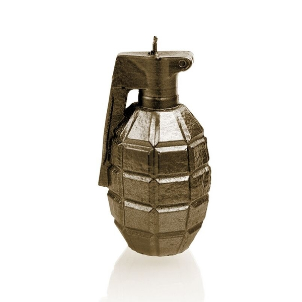 Brass Large Grenade Candle